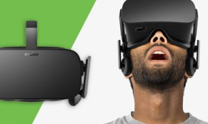 man with oculus rift