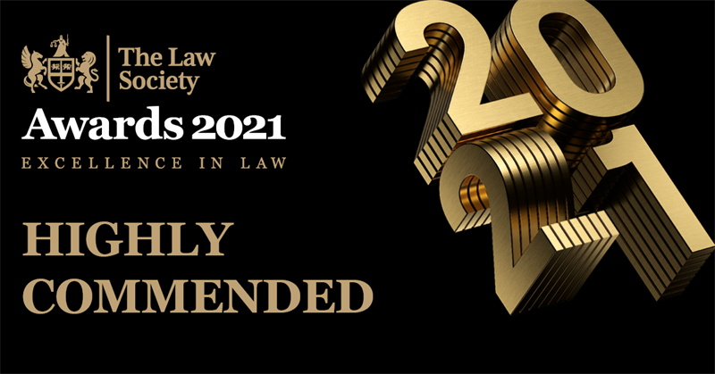 The Law Society Awards Highly Commended